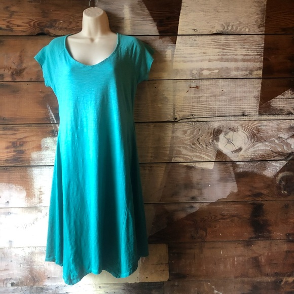 Columbia Dresses & Skirts - Columbia Size Small Ombré Teal Dress Short Sleeve